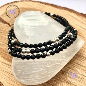 Black Onyx Faceted Beaded Bracelet